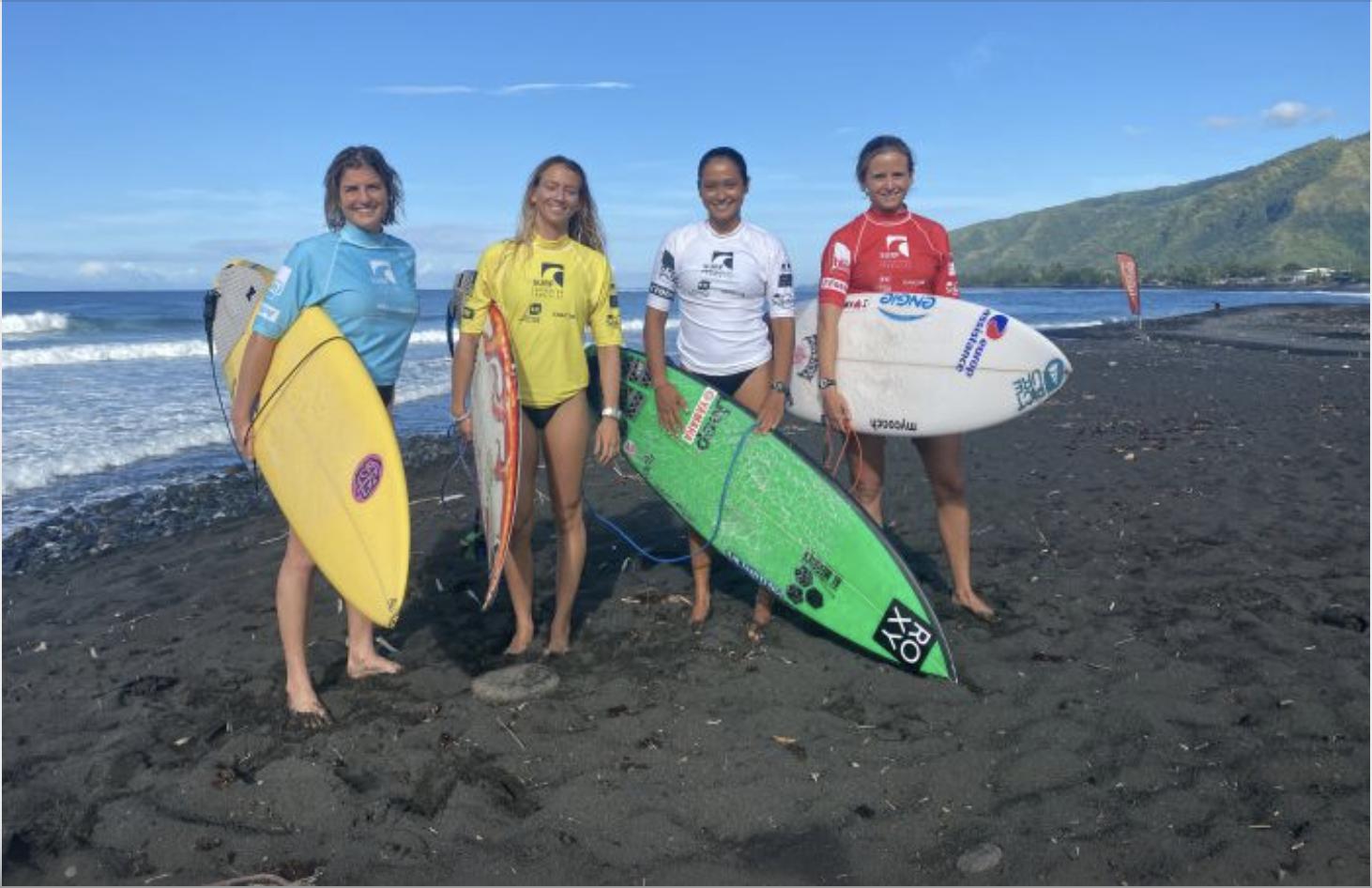 Le collectif France féminin en stage à Tahiti